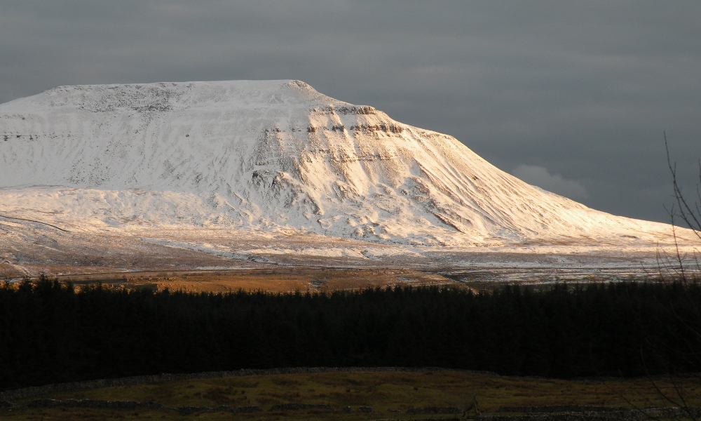 Ingleborough in winter conditions